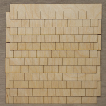 Laser Cut Rectangular Shaped Speed Shingles Strips