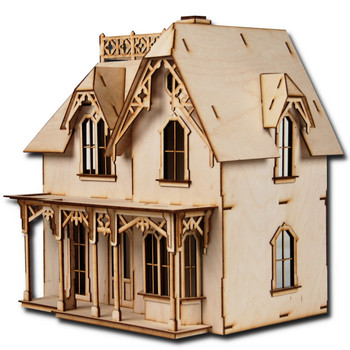 Laser Cut Half Scale Chantilly Dollhouse Kit