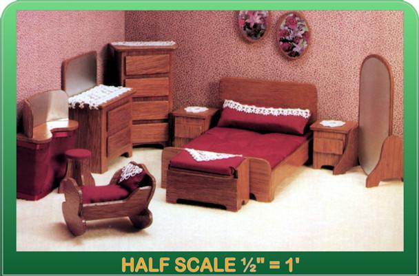 Half Scale Laser Cut Master Bedroom Furniture Kit