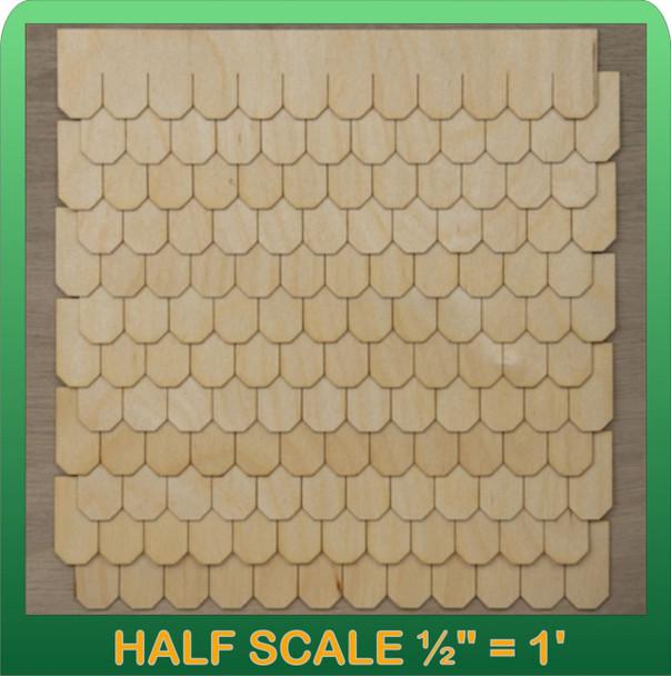 Half Scale Laser Cut Octagon Shaped Speed Shingle Strips