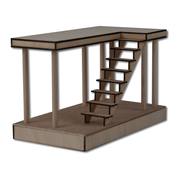 Dollhouse Boardwalk Stairs