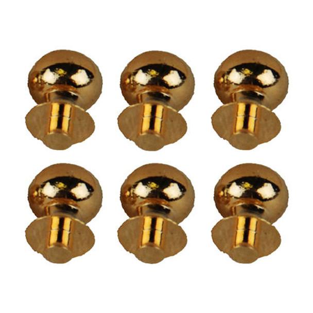 Miniature Half Inch Scale Brass Door Knobs Round Head
