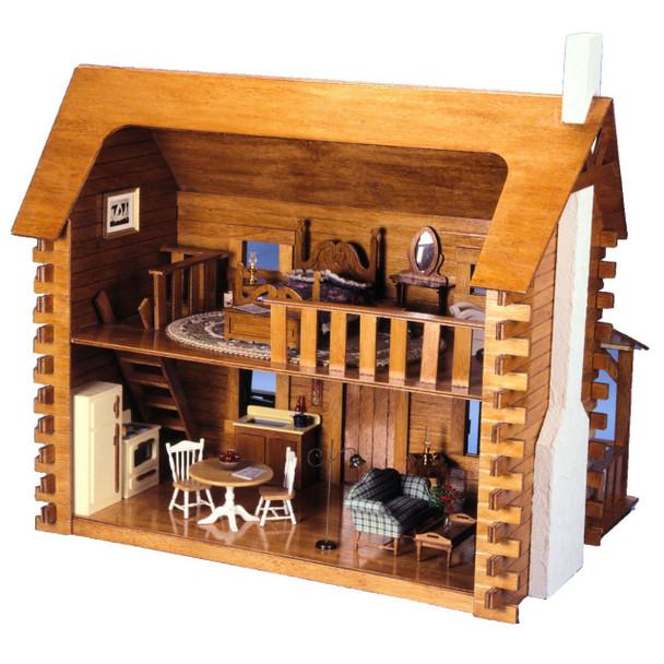 The Creekside Cabin Dollhouse Kit