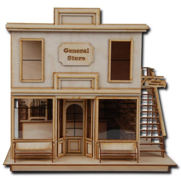 Laser Cut Half Scale Taft General Store Dollhouse Kit