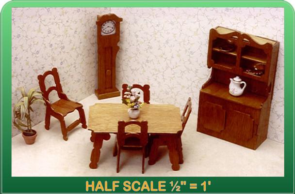 Half Scale Laser Dining Room Furniture Kit