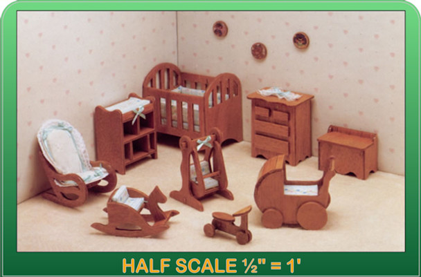 Half Scale Laser Cut Nursery Furniture Kit