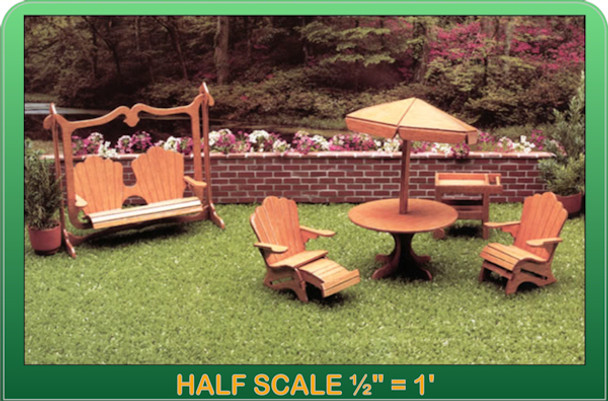 Half Scale Laser Cut Patio Furniture Kit