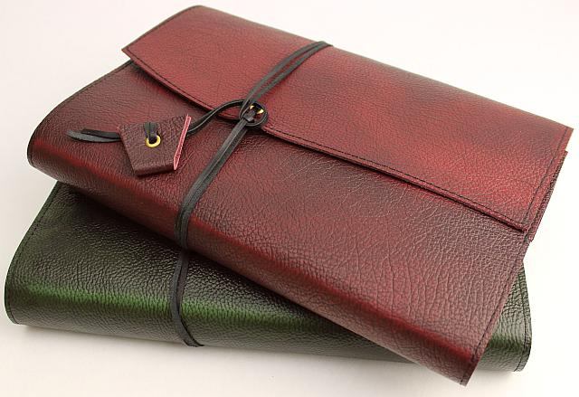 Chesterfield Leather Boook Wraps.  Handcrafted from the leather used to create the classic Chesterfield furniture. Available in Journals, Book Wraps and Notebooks.