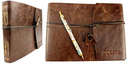 Leather Guest Book Handcrafted in Australia