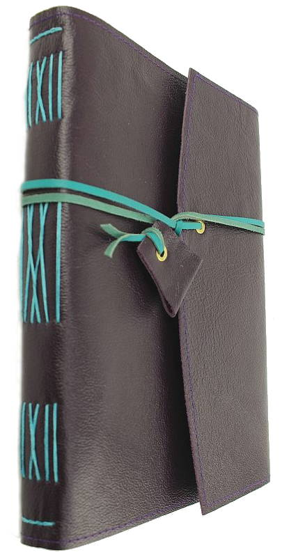 Leather Journal Purple & Turquoise