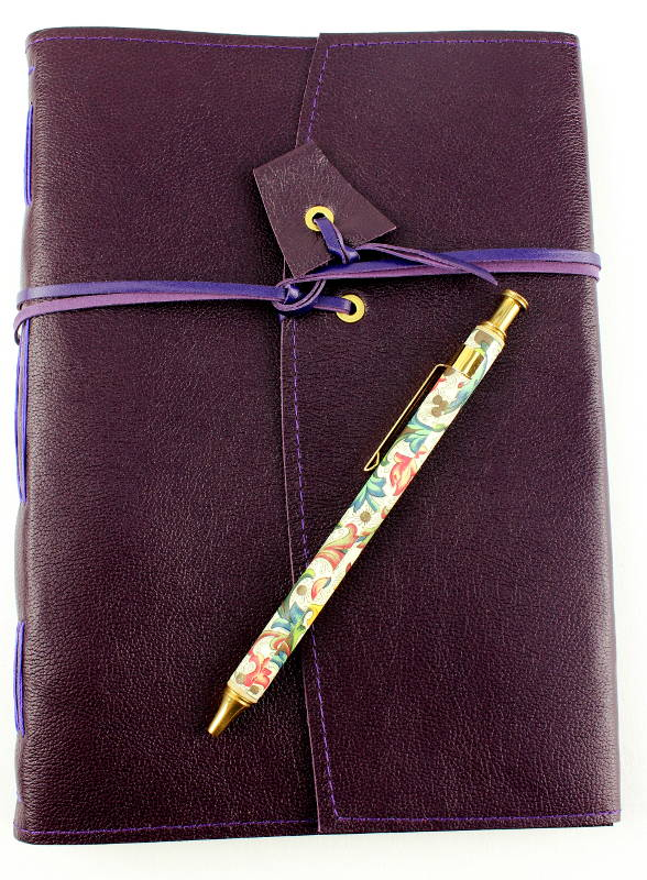 Leather Journal Violet