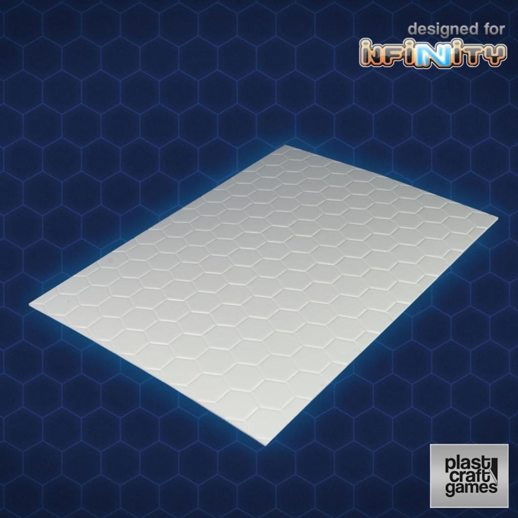 Plast Craft 2mm hexagonal textured PVC sheet