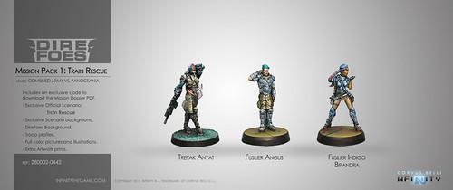 Dire Foes Mission Pack 1: Train Rescue (PanOceania VS Morat) Bipandra, Anyat, Angus