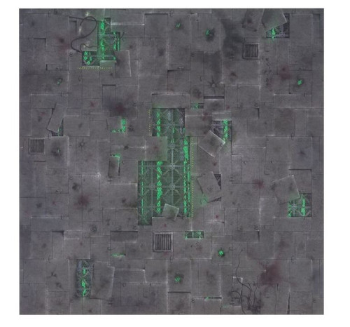 GameMat War Game Mat - 48x48inch - Chem Zone
