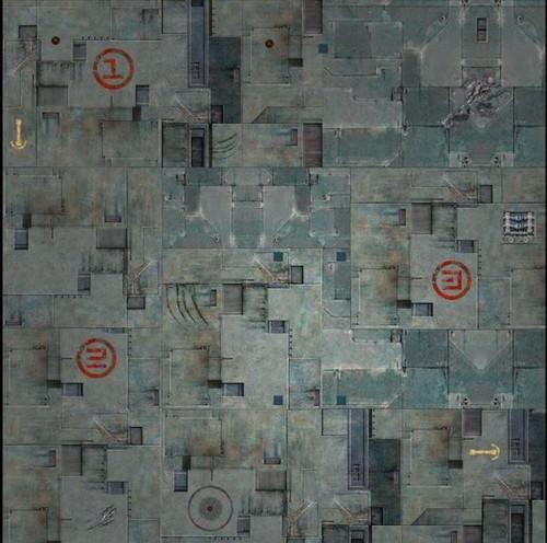 GameMat War Game Mat - 48x48inch - TriCity
