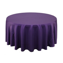 132 inch L'amour Round Tablecloth Purple