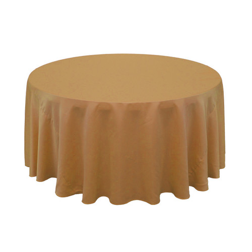 120 Inch Lu0027amour Round Tablecloth Gold | Wholesale Wedding Tablecloths