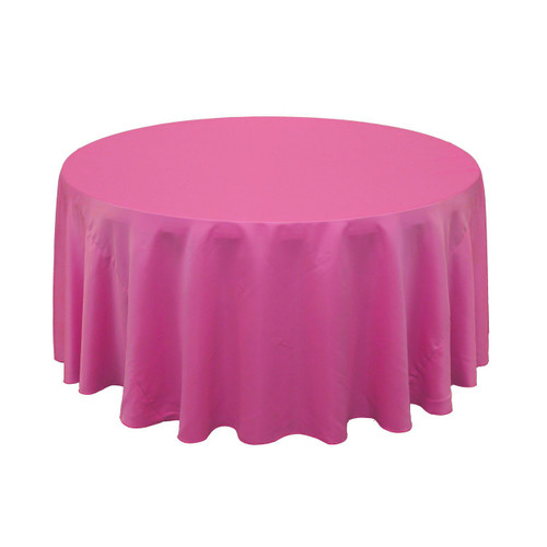 Ordinaire 120 Inch Lu0027amour Round Tablecloth Fuchsia | Wholesale Wedding Tablecloths