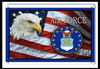 """U.S.A.F.  Tribute  Flag  With  Eagle""""  Metal Sign"""