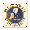 """""""SEAS  THE  DAY """"  METAL  SIGN"""