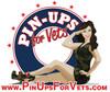 """Pin-Ups For Vets""  Logo   BUMPER   STICKER"
