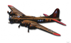 """B-17  Flying  Fortress""  Metal  Wall  Art"