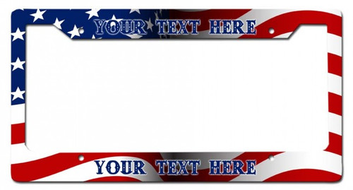 """""""US Flag""""-- Personalized License Plate  Frame"""