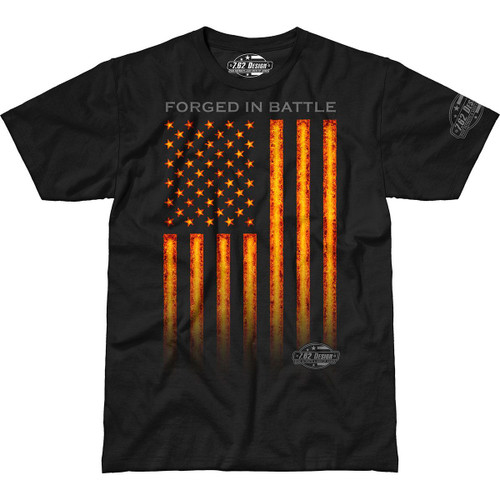 """FORGED  IN  BATTLE""  T-SHIRT"
