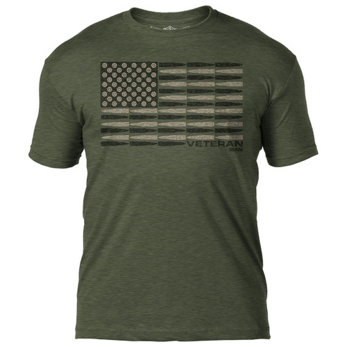 """VETERAN  BULLET  FLAG""  T-SHIRT"