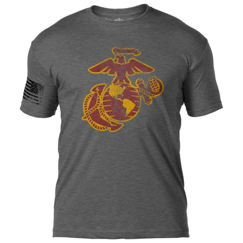 """USMC--eagle, globe, anchor"" Distressed T-shirt"