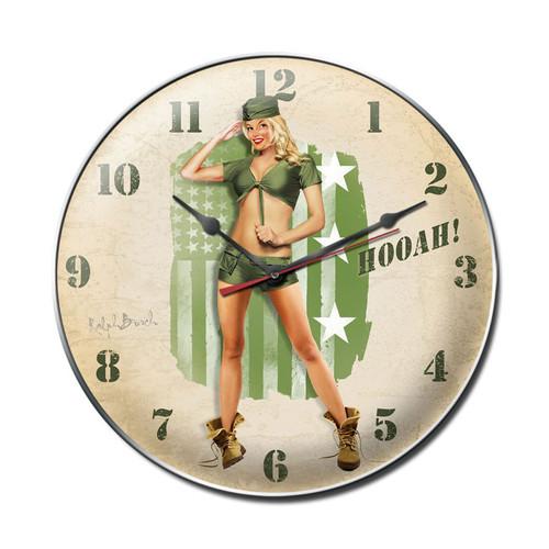 HOOAH  ARMY  CLOCK