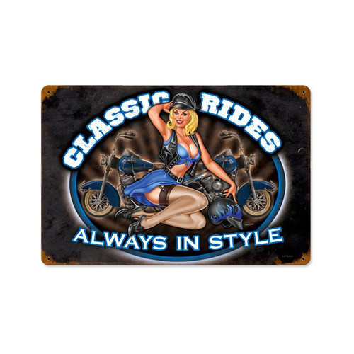 """CLASSIC   RIDES""   METAL   SIGN"