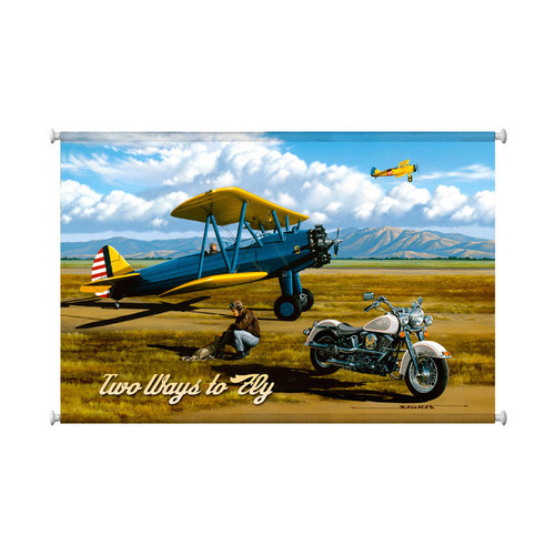 """TWO  WAYS  TO  FLY""  CANVAS  PRINT"