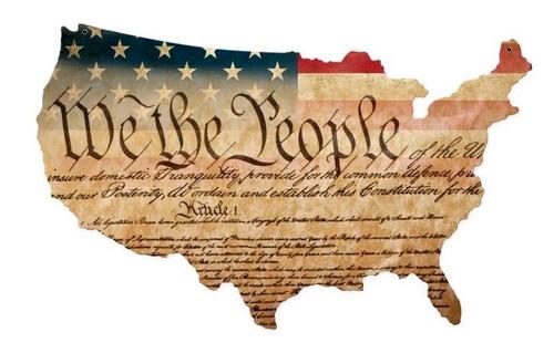 """CONSTITUTION  USA""    VINTAGE  METAL  SIGN"