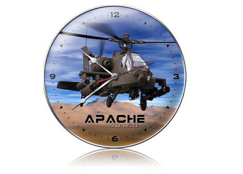 """""""APACHE  HELICOPTER""""   CLOCK"""