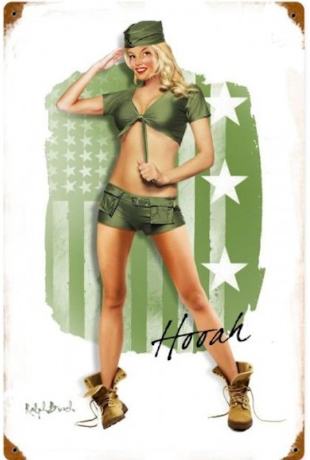 """ARMY"" GIRL  METAL  SIGN"