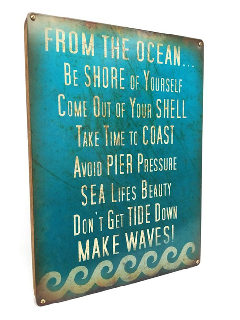 """ADVICE FROM THE OCEAN"" BOXED  SIGN"