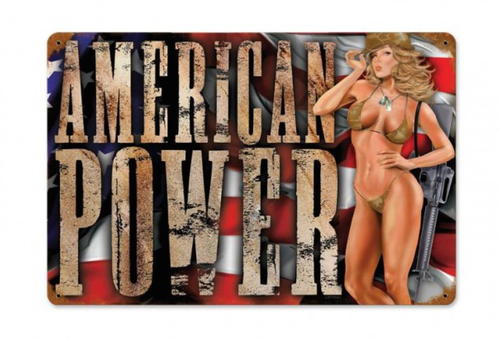 """AMERICAN POWER""  METAL SIGN"