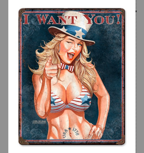"""""""I  WANT  YOU""""  METAL  SIGN"""
