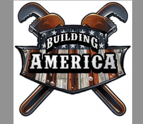 """BUILDING AMERICA""  METAL  SIGN"