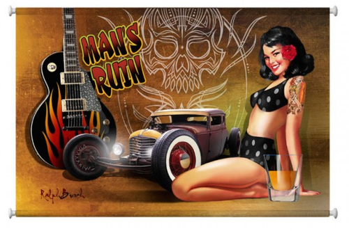 """38"""" by 25"""" CANVAS  PRINT...""""MAN'S  RUIN""""--ready to hang"""