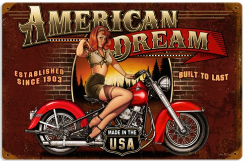 """AMERICAN  DREAM""  METAL  SIGN"