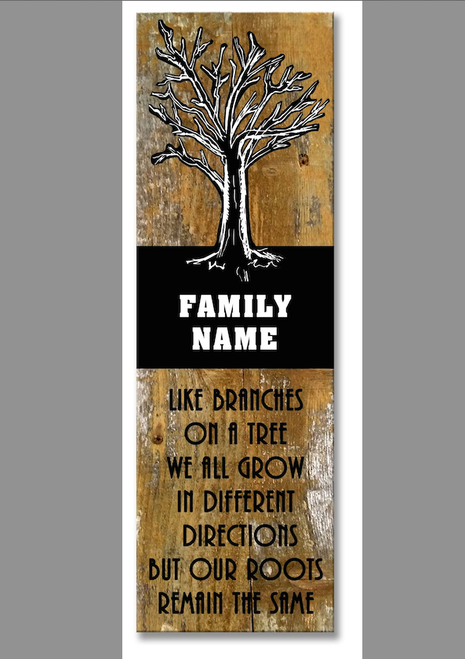 """""""FAMILY  TREE""""  PERSONALIZED  WOODEN  SIGN"""