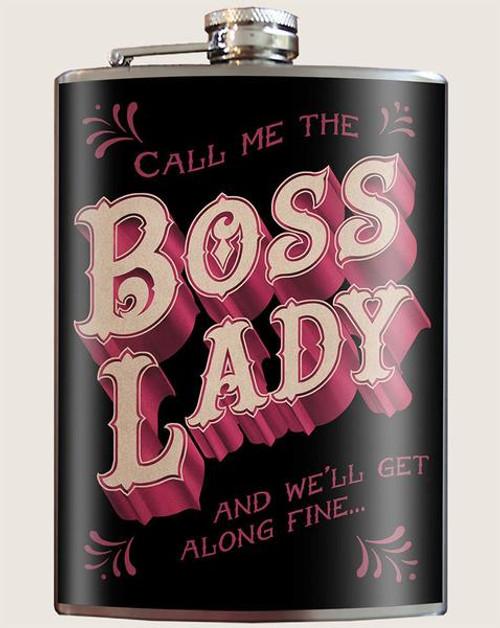 """""""Boss Lady"""" - Flask"""