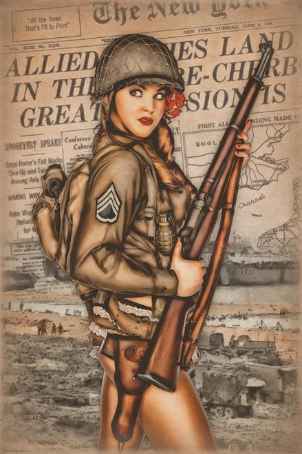 """""""D-Day """" Tribute  Metal  Sign"""