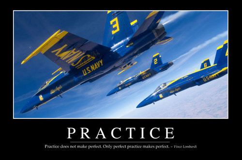 """PRACTICE""  MOTIVATIONAL  METAL  SIGN"