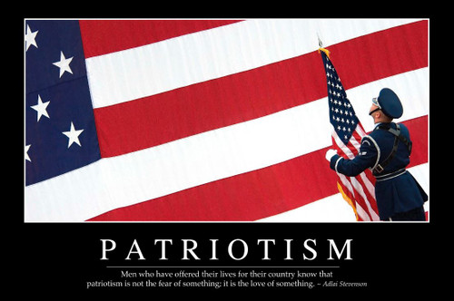 """PATRIOTISM""  METAL SIGN"