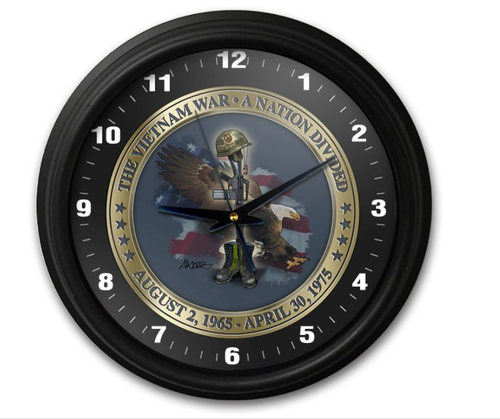 """TRIBUTE TO VIETNAM VETERANS""  CLOCK"