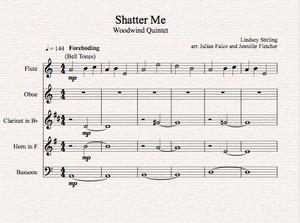Brass Quintet - Shatter Me - Sheet Music