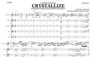 String Quartet+Vln Solo - Crystallize w/ KARAOKE Play-Along Track - Sheet Music